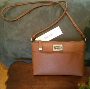 Authentic Calvin Klein crossbody purse color: lug